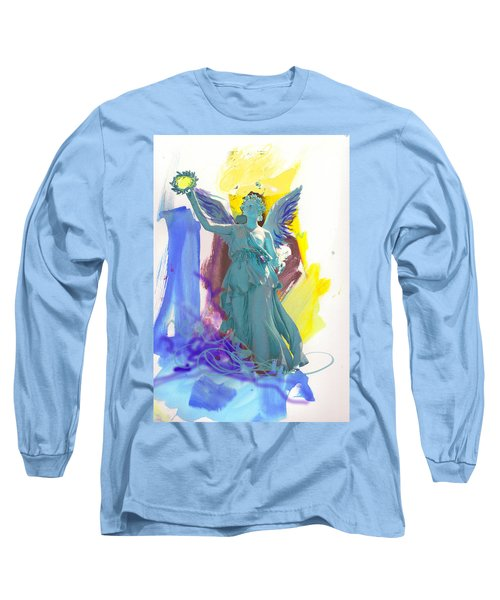 Angel, Victory Is Now Long Sleeve T-Shirt by Amara Dacer