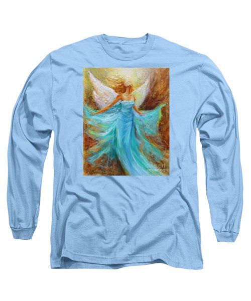 Long Sleeve T-Shirt featuring the painting Angelic Rising by Jennifer Beaudet