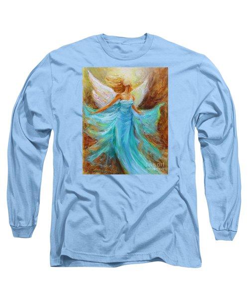 Angelic Rising Long Sleeve T-Shirt by Jennifer Beaudet