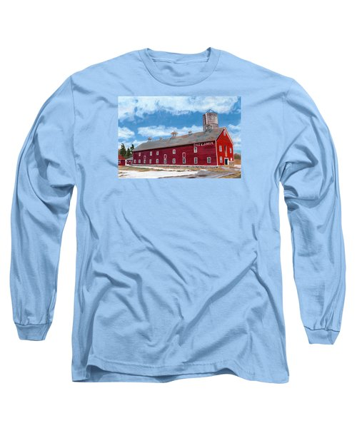 Long Sleeve T-Shirt featuring the painting Anken's Barn by Lynne Reichhart