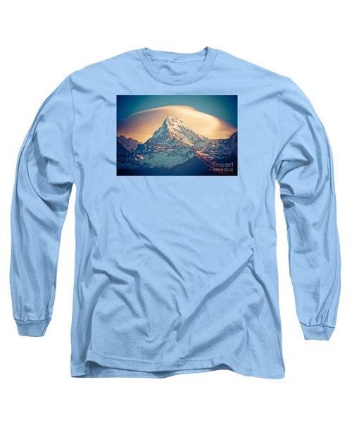 Annapurna Sunrise Himalayas Mountains Long Sleeve T-Shirt