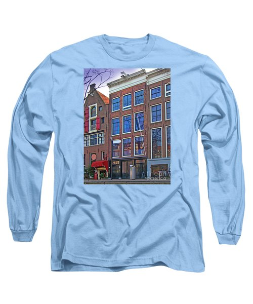 Anne Frank Home In Amsterdam Long Sleeve T-Shirt
