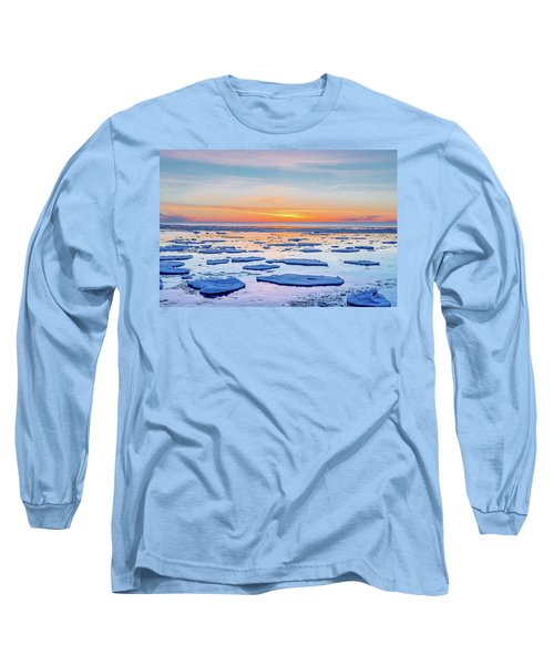 April Sunset Over Lake Superior Long Sleeve T-Shirt