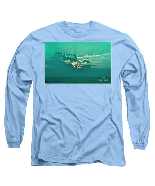 Aqua Sunset Long Sleeve T-Shirt