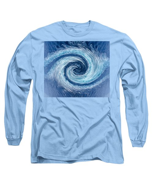 Aqua Swirl Long Sleeve T-Shirt