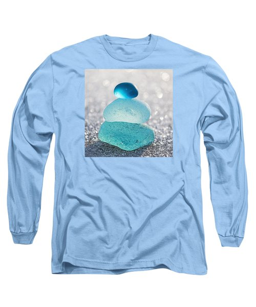 Aquamarine Ice Long Sleeve T-Shirt