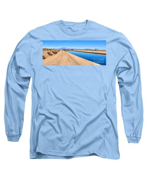 Aqueduct And The Tehachapi Mountains Long Sleeve T-Shirt