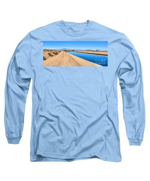 Aqueduct And The Tehachapi Mountains Long Sleeve T-Shirt