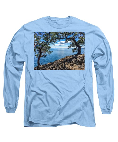 Long Sleeve T-Shirt featuring the photograph Arch Of Trees by William Wyckoff