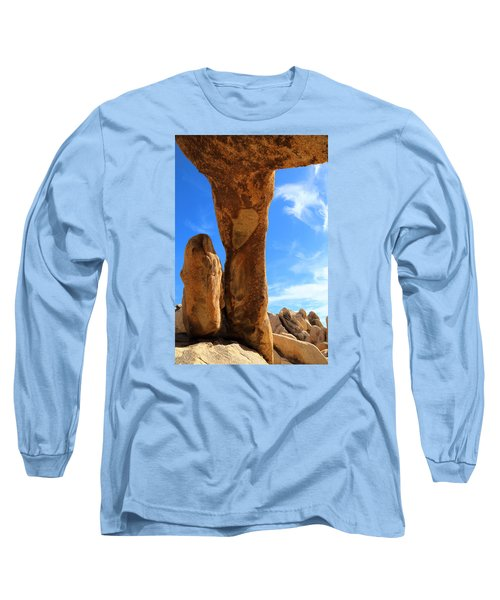 Long Sleeve T-Shirt featuring the photograph Arch Rok Looking Inside Sideway by Viktor Savchenko