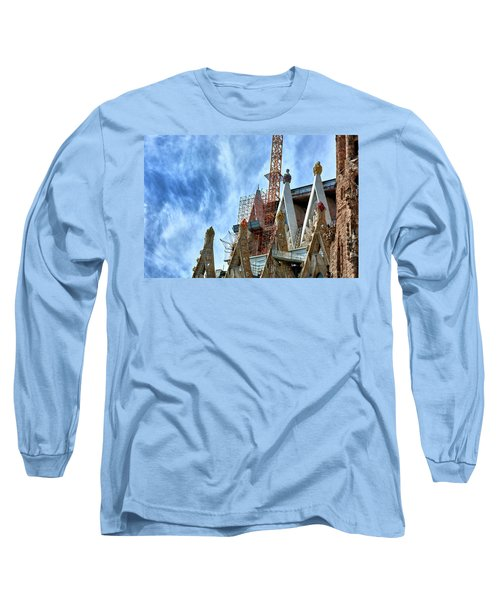 Architectural Details Of The Sagrada Familia Long Sleeve T-Shirt