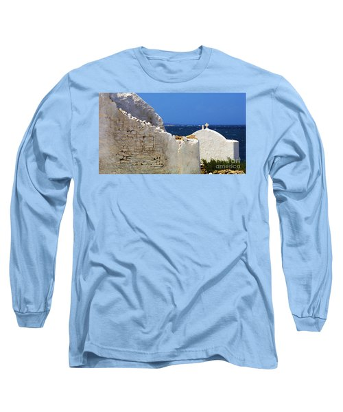 Long Sleeve T-Shirt featuring the photograph Architecture Mykonos Greece 2 by Bob Christopher