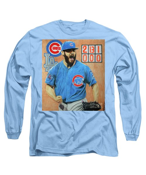 Arrieta No Hitter - Vol. 1 Long Sleeve T-Shirt by Melissa Goodrich