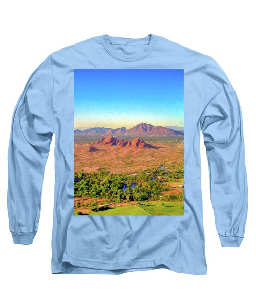 Arriving In Phoenix Digital Watercolor Long Sleeve T-Shirt
