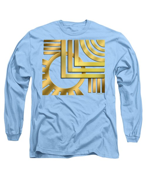 Long Sleeve T-Shirt featuring the digital art Art Deco 19 Transparent by Chuck Staley
