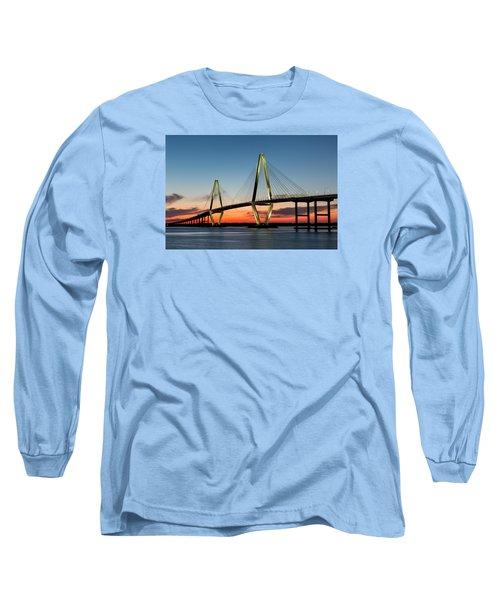 Arthur Ravenel Bridge, Charleston At Twilight Long Sleeve T-Shirt