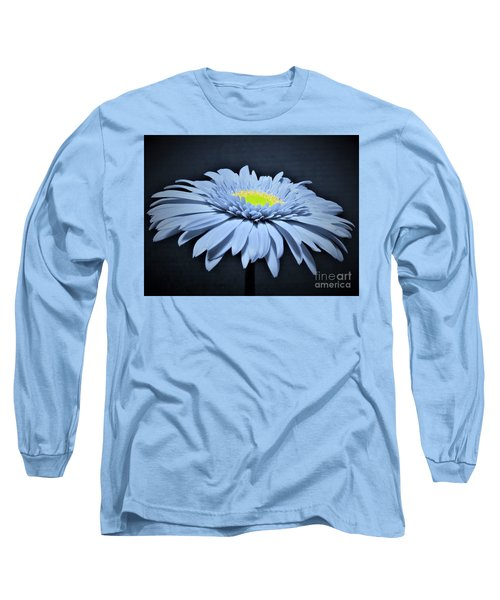 Artic Blue Gerber Daisy Long Sleeve T-Shirt