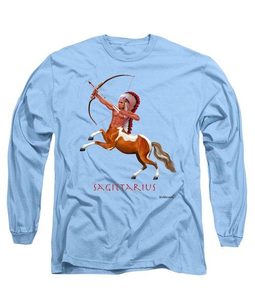 Native American Sagittarius Long Sleeve T-Shirt by Glenn Holbrook