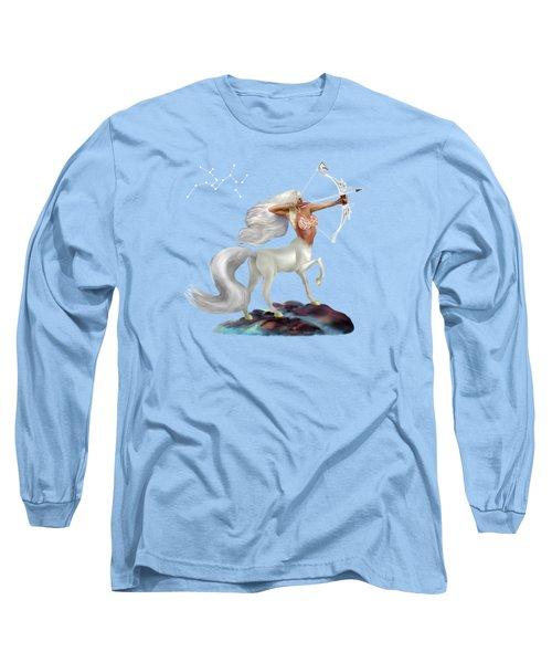 Mystical Sagittarius Long Sleeve T-Shirt by Glenn Holbrook