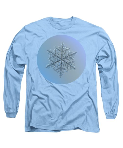 Long Sleeve T-Shirt featuring the photograph Snowflake Photo - Majestic Crystal by Alexey Kljatov