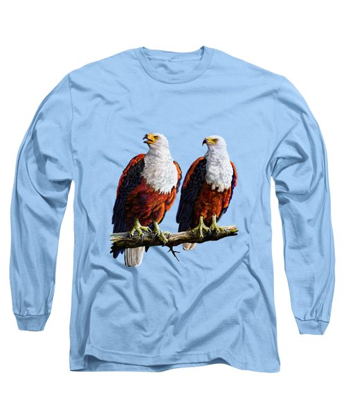 Friends Hanging Out Long Sleeve T-Shirt by Anthony Mwangi