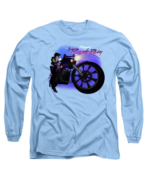 Long Sleeve T-Shirt featuring the digital art I Grew Up With Purplerain 2 by Nelson dedos Garcia