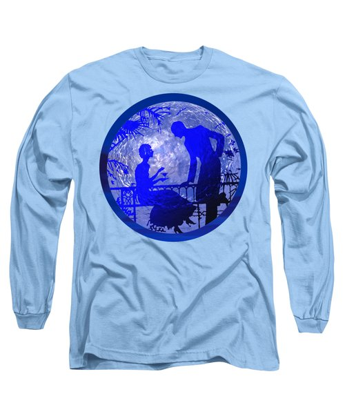 Blue Moonlight Lovers Long Sleeve T-Shirt