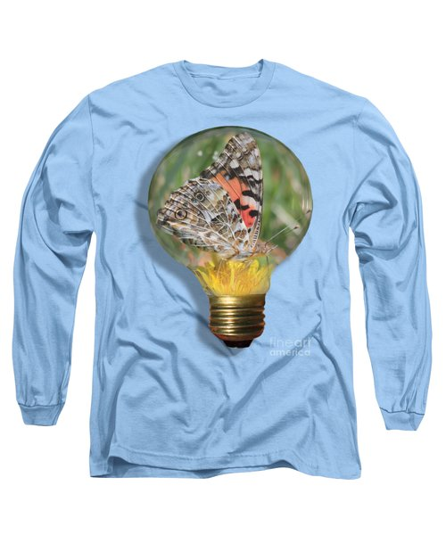 Butterfly In Lightbulb Long Sleeve T-Shirt
