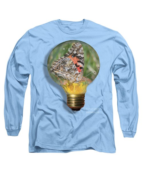 Butterfly In Lightbulb Long Sleeve T-Shirt