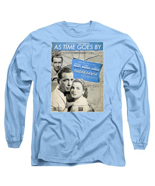 As Time Goes By Sheet Music Long Sleeve T-Shirt by Barbie Corbett-Newmin