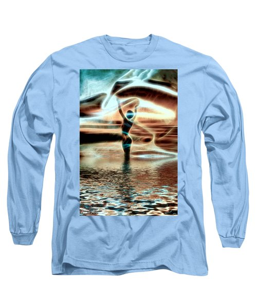 Long Sleeve T-Shirt featuring the digital art Ascension by Pennie McCracken