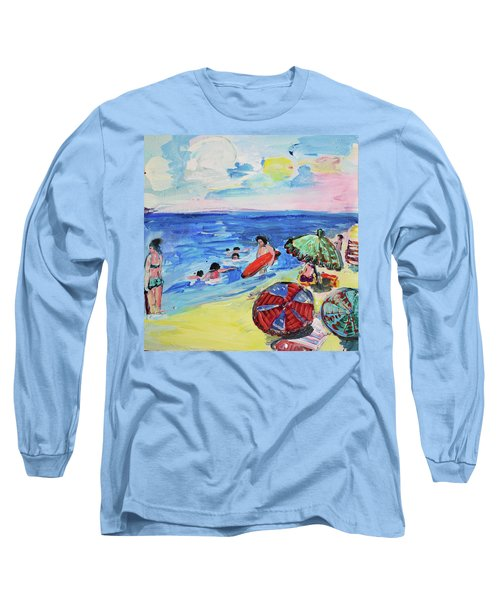 At The Beach Long Sleeve T-Shirt by Amara Dacer