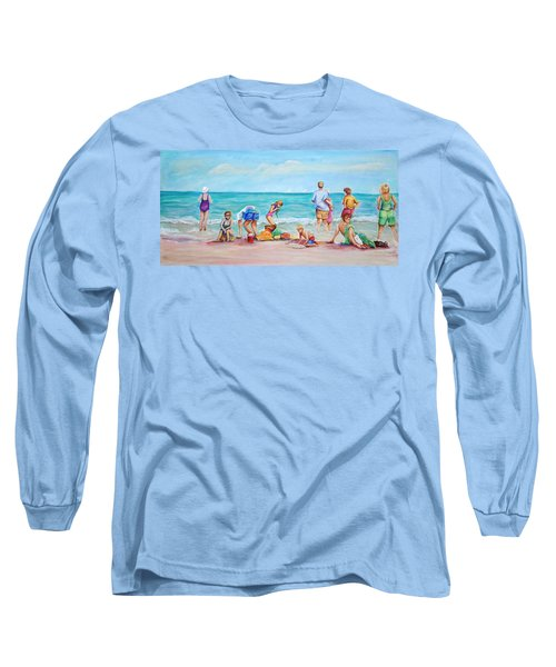 At The Beach Long Sleeve T-Shirt by Patricia Piffath