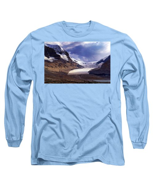 Athabasca Glacier Long Sleeve T-Shirt by Heather Vopni
