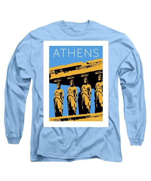 Athens Erechtheum Blue Long Sleeve T-Shirt