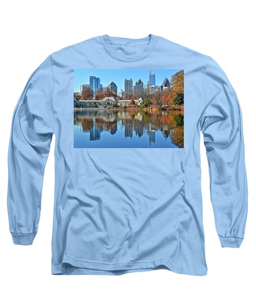 Atlanta Reflected Long Sleeve T-Shirt by Frozen in Time Fine Art Photography