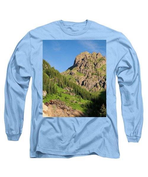 Long Sleeve T-Shirt featuring the photograph Atlas Mine by Steve Stuller