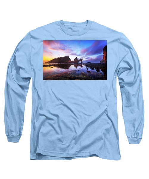 Atuh Beach Dawn Break Scene Long Sleeve T-Shirt