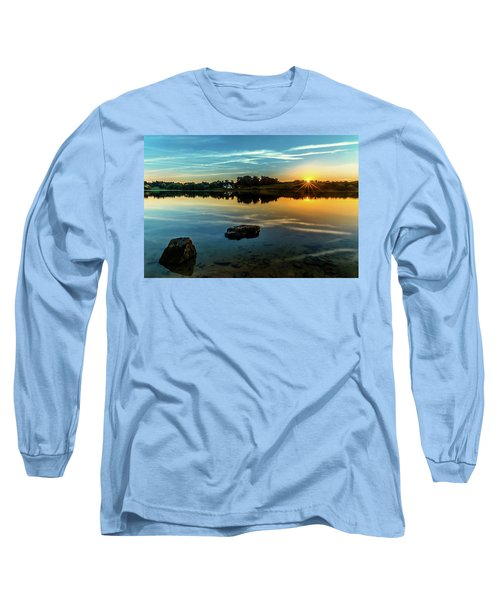 Long Sleeve T-Shirt featuring the photograph August Sunset by Nick Bywater