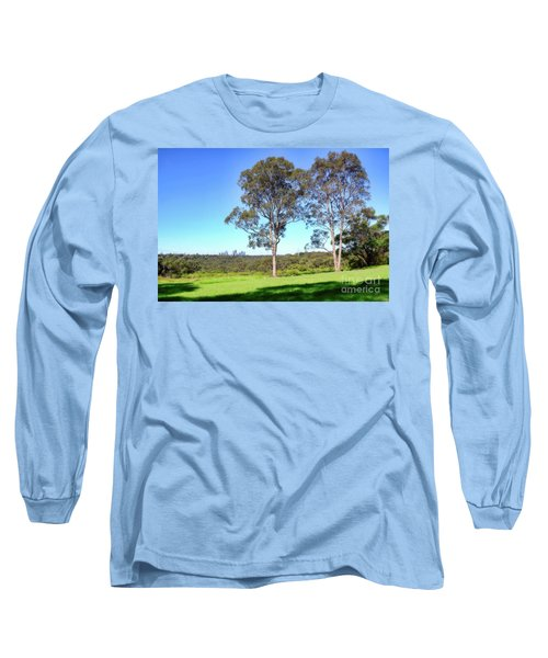 Long Sleeve T-Shirt featuring the photograph Aussie Gum Tree Landscape By Kaye Menner by Kaye Menner