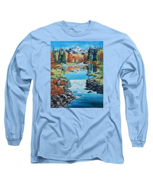 Autum Stag Long Sleeve T-Shirt