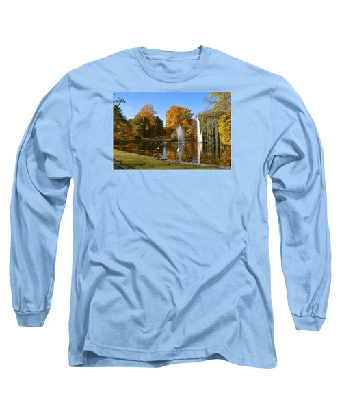 Autumn At The City Park Pond Maastricht Long Sleeve T-Shirt by Nop Briex