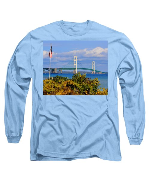 Autumn Bridge Long Sleeve T-Shirt by Keith Stokes
