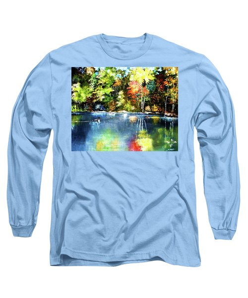 Autumn In Loon Country Long Sleeve T-Shirt by Al Brown
