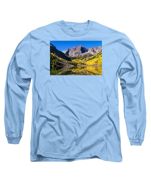 Autumn Morning At The Maroon Bells Long Sleeve T-Shirt by Teri Virbickis