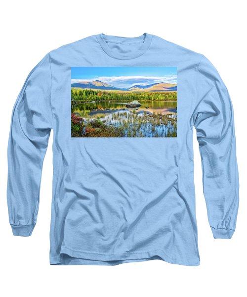 Autumn Mt.katahdin Baxter Sp Maine Long Sleeve T-Shirt by Michael Hubley