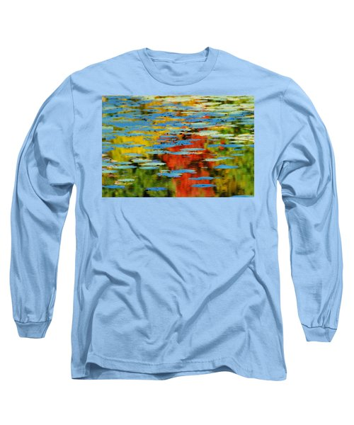 Long Sleeve T-Shirt featuring the photograph Autumn Lily Pads by Diana Angstadt