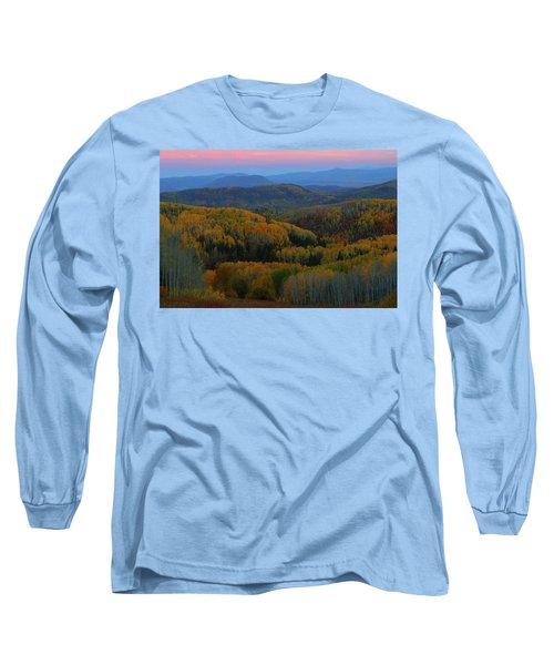 Autumn Sunrise At Rainbow Ridge Colorado Long Sleeve T-Shirt