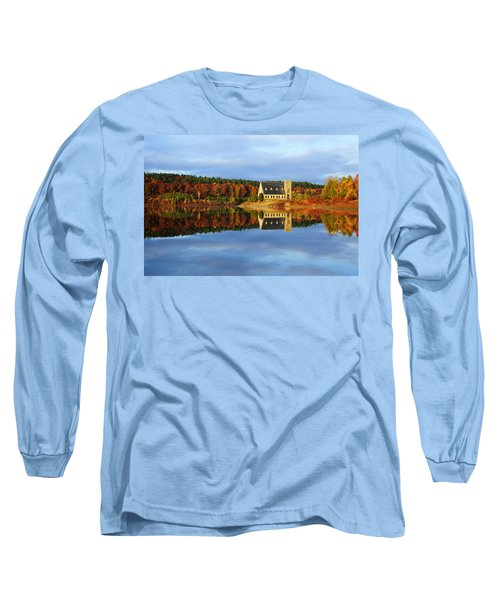 Autumn Sunrise At Wachusett Reservoir Long Sleeve T-Shirt