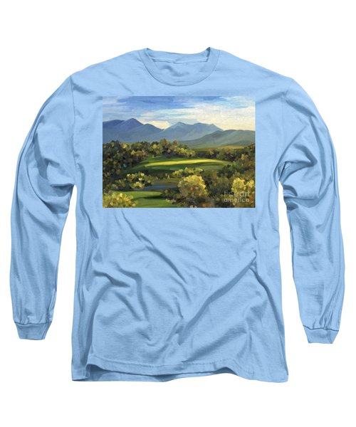 Long Sleeve T-Shirt featuring the painting Autumn Trees by Ivana Westin
